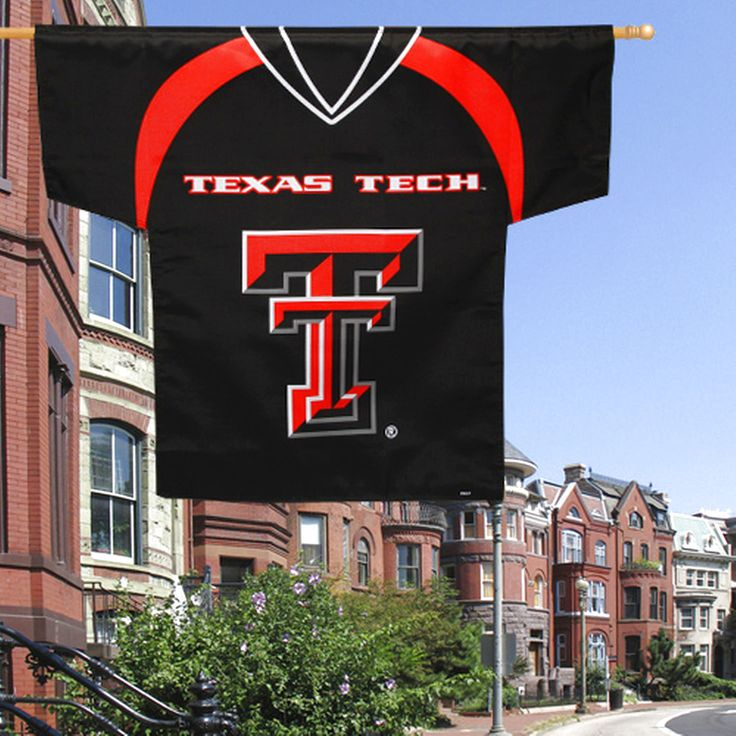 Texas Tech Red Raiders 34'' x 30'' Two-Sided Jersey Flag - Black - $20.89
