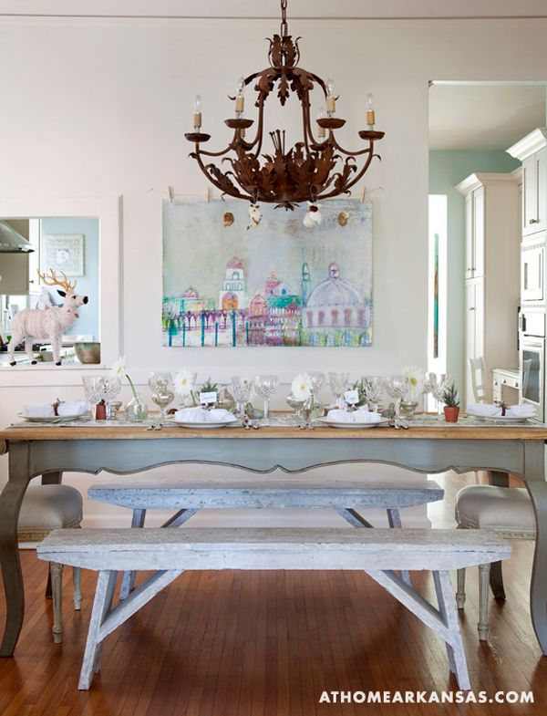 Dining Rooms Decor Ideas Folk Art Painting Furniture Shabby Chic