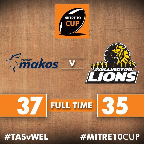 What a game in Blenheim! Tasman Makos have comeback in stunning fashion to end Wellington's unbeaten run in 2017! 10th Sept. :(