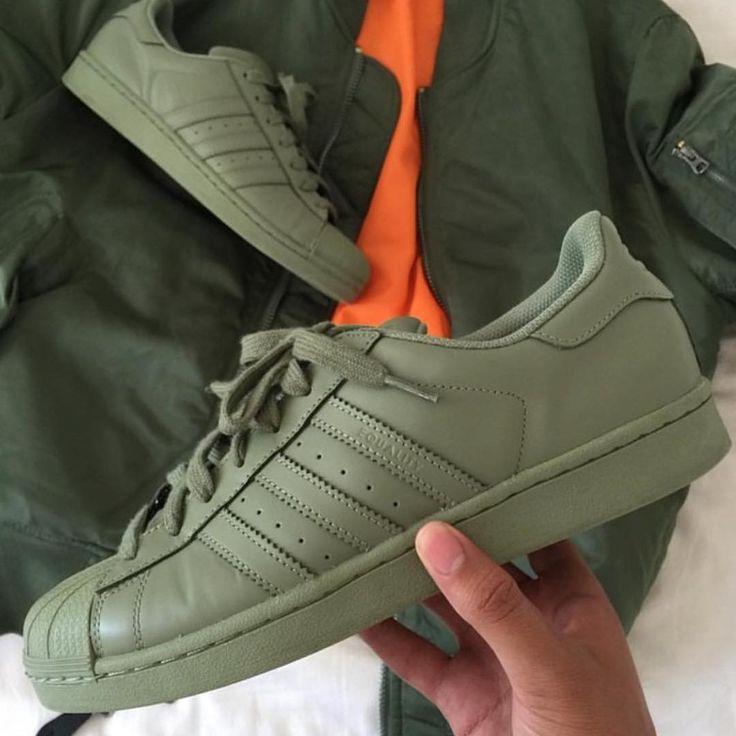 Adidas Superstar Schuhe Khaki