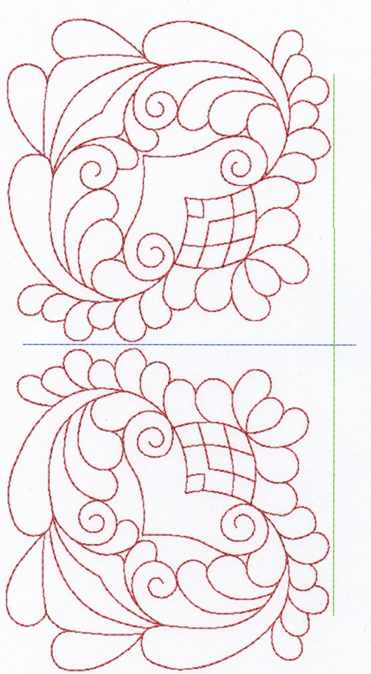 Free Hand Quilting Patterns | stitches. The large designs are digitized as half of the design.