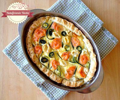 Batuffolando Ricette Torta salata con ricotta, zucchine e salmone