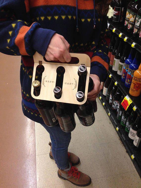 The Brew Cart Six Pack Beer Carrier Is The Ultimate Reusable Storage Solution For Bottled Fabricacion De Cerveza Caja De Cerveza Soportes Para Botellas De Vino