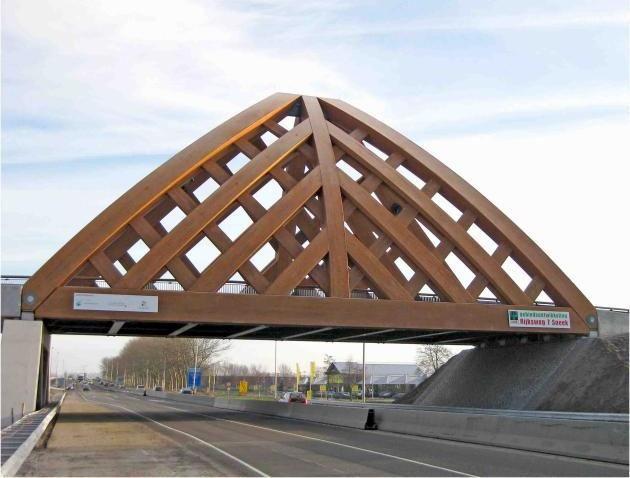 Bridge from Accoya wood, Sneek, Netherlands
