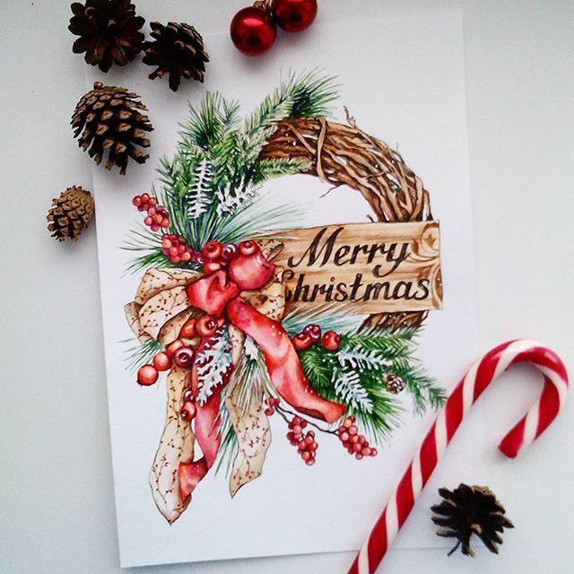 Открытки днем, новогодние открытки скетч