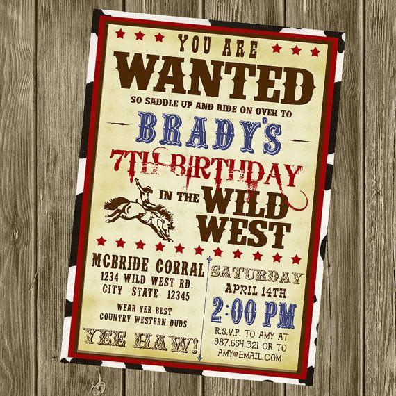 25+ Best Cowboy Invitations Ideas On Pinterest
