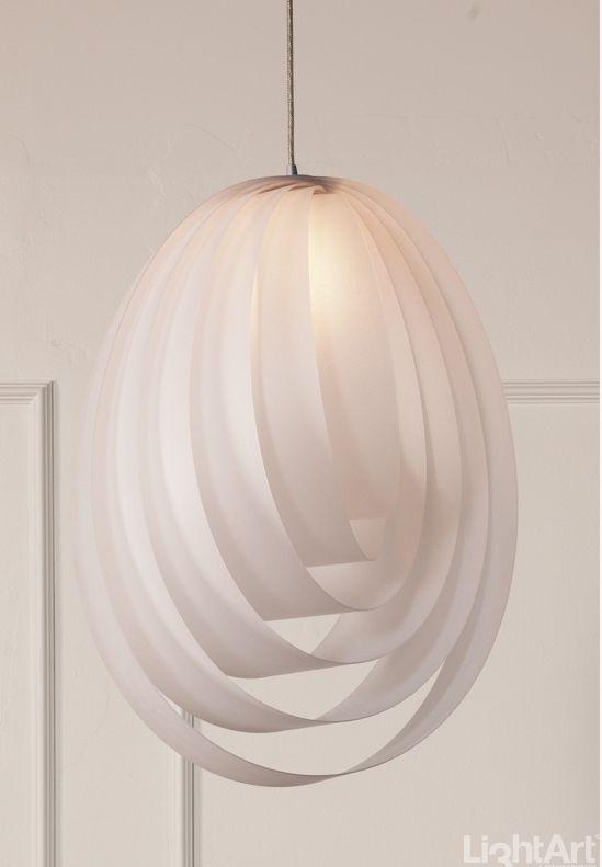 RTG FRENCH CURVE PENDANT translucent suede #MaterialRepublic #3form #Lighting #InteriorDesign