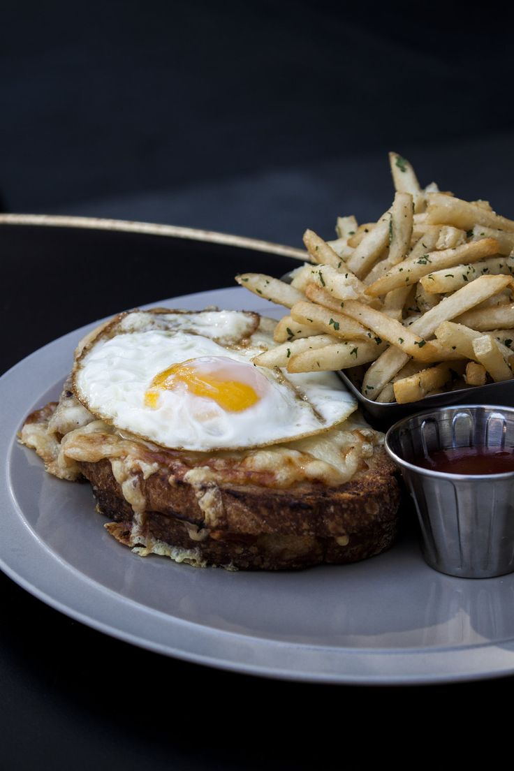 Croque Madam with duck fat fries