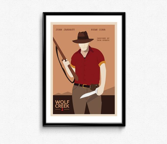 Hey, I found this really awesome Etsy listing at https://www.etsy.com/listing/197266532/wolf-creek2-movie-minimalist-retro