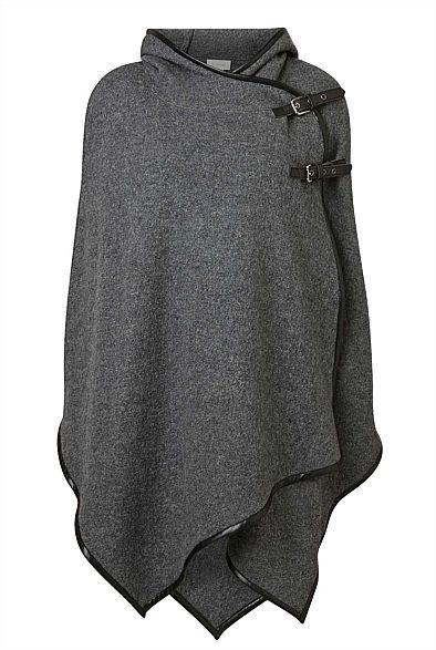 Boiled Wool Poncho #witchery #ItsGoodKarma