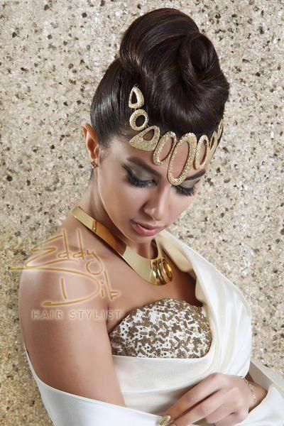 Arabic Hairstyles | Via Mireille Khoury