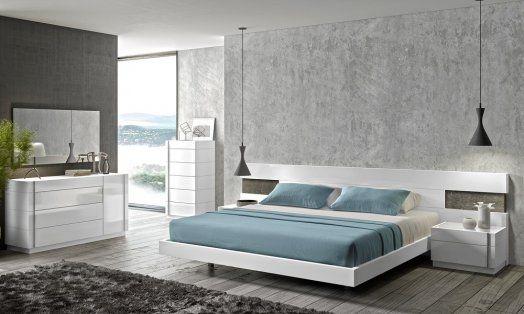 Porto Premium Bedroom Set In Wenge With Light Grey In 2020 White