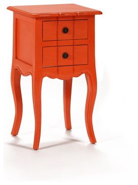 Orange nightstand - A172 - side tables and accent tables - Nadeau - Furniture with a Soul