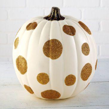 Glitter Polka Dot Craft Pumpkin