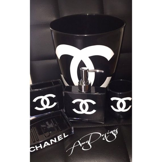 chanel bathroom Set by AmyDesignshop on Etsy omg i need this