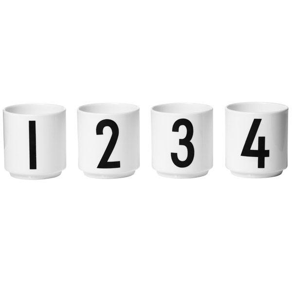 Arne Jacobsen espressokupit, 4 kpl, 39€
