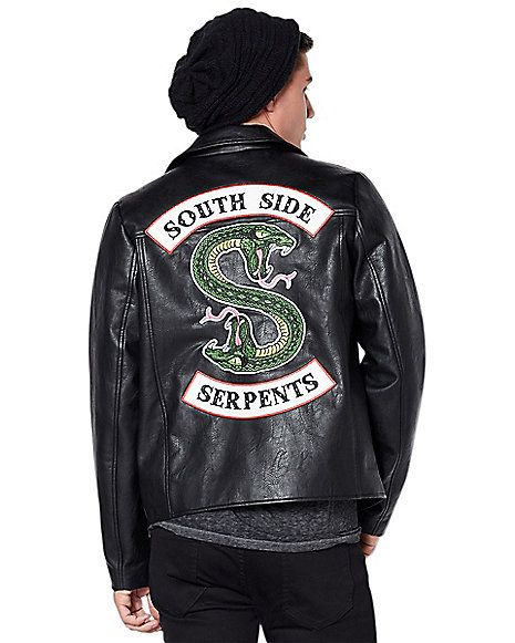 Faux Leather Southside Serpents Jacket Riverdale Spirithalloween