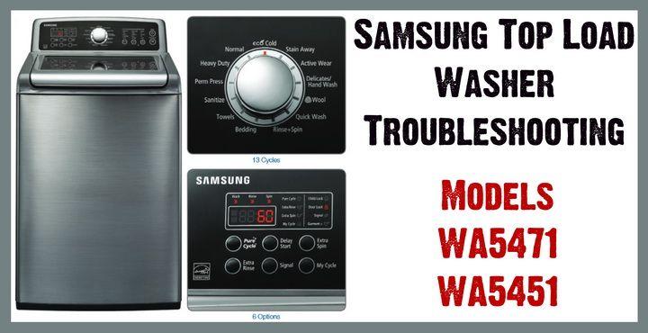 Samsung Top Load Washer Model Wa5471 Wa5451