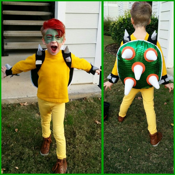 Diy Bowser costume. King Koopa costume. Halloween.