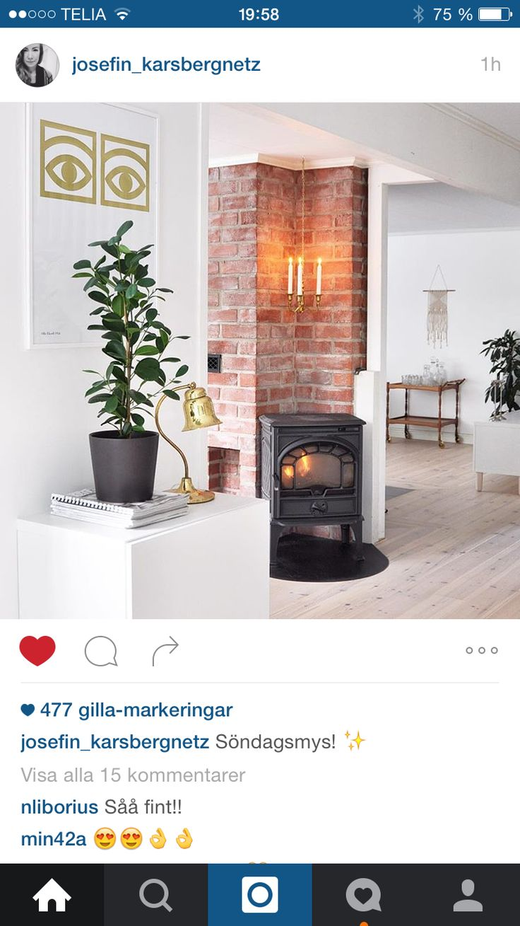 12 best kamin images on Pinterest | Fire, Small wood burning stove ...