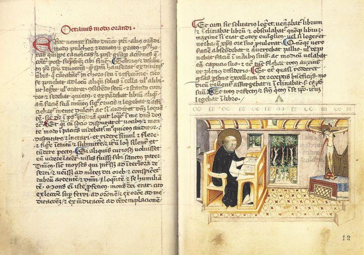 Modi Orandi Sancti Dominici, 8 : la lectio divina, codex rossianus 3, 1450, bibliothèque vaticane,