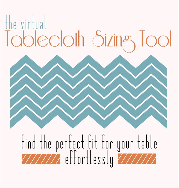 Tablecloth Sizing | LinenTablecloth. Virtual tool to measure table cloths, because I'm a dorkiss and need help with this kind of stuff. Good for werk