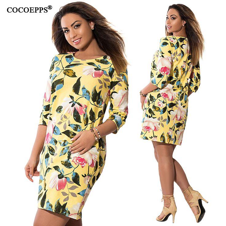 >> Click to Buy << COCOEPPS 2017 New Elegant Women Print Floral Dresses 5XL 6XL Big Plus Size Vintage clothes Lady Evening Party Office Dress 4XL #Affiliate