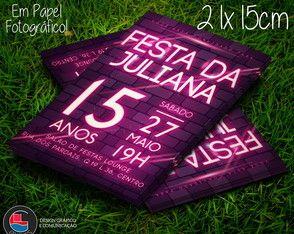 Convite Festa Neon Balada 15x21cm