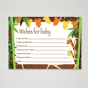 159 best images about baby shower monkey theme on for Wishes for baby template printable