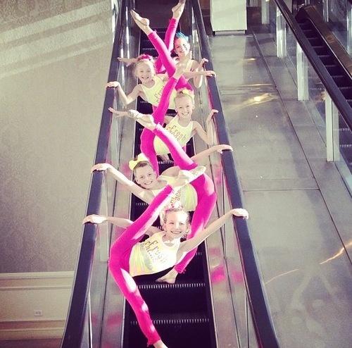 How dances ride the escalator! FRESH FACES