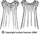 Free Pattern: Lady's Old-fashioned Chemise, 1889 - 1893