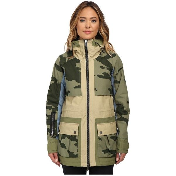 Burton Lamb Riff Parka Women's Coat ($330) ❤ liked on Polyvore featuring outerwear, coats, hooded parka, hooded parka coat, waterproof coat, parka coat and waterproof parka