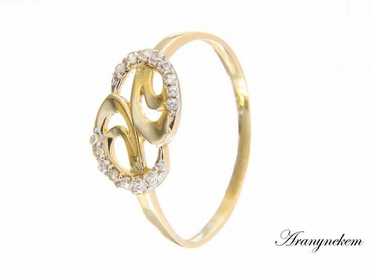 Cirkónia köves arany gyűrű