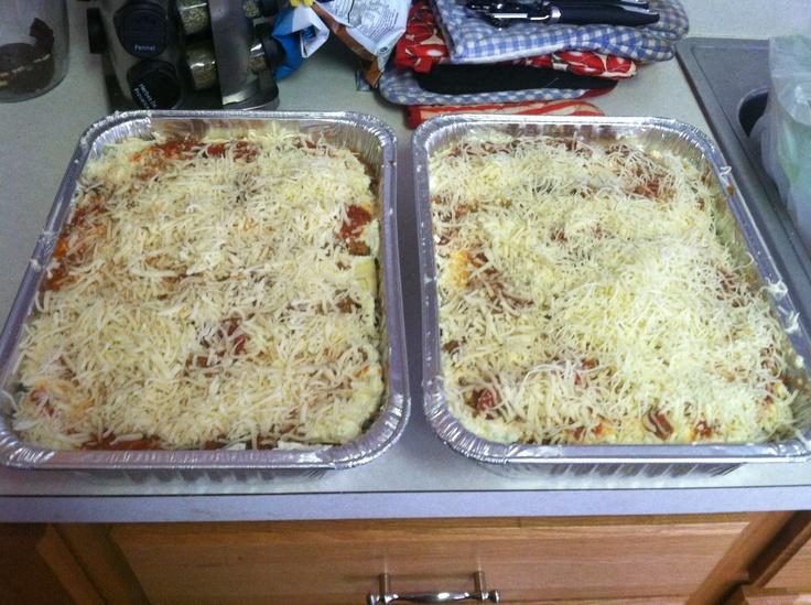 Before shot of home made lasagna