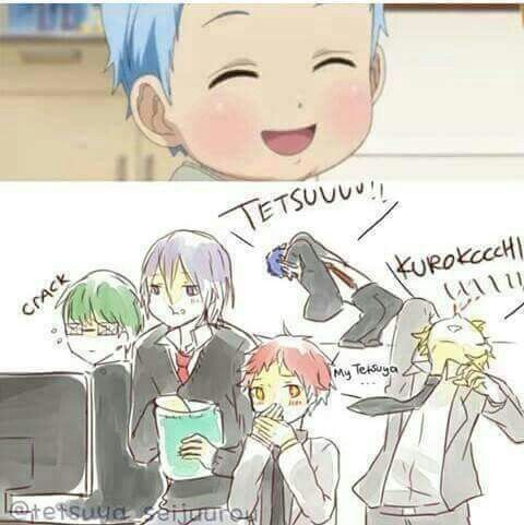Aha! So freaking cute! Akashi is blushing! And Kise is having a nosebleed! ❤❤❤❤❤❤