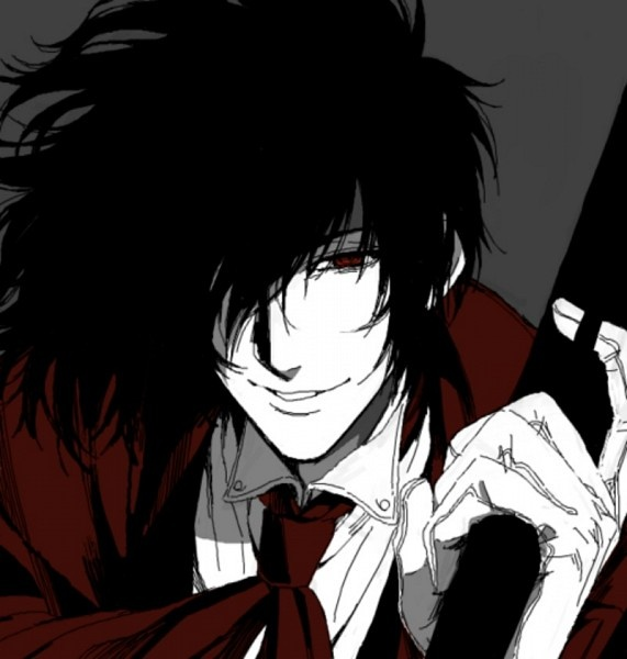 Alucard Fan Art - Hellsing I've only seen the abridged version by Team Four Star...It's bloody hilarious...