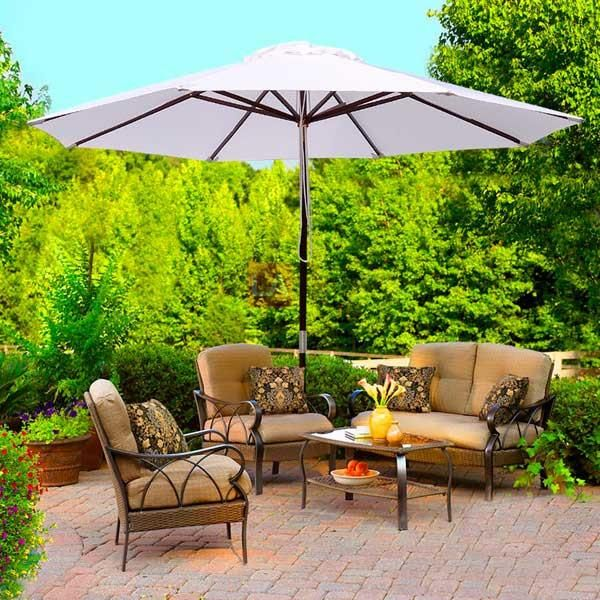 d1a332cab9 9 Foot Patio Furniture Wood Market Umbrella Color Options in 2019 ...