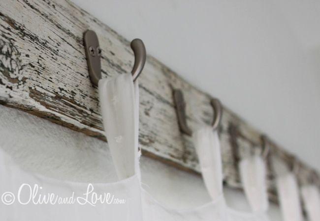 Cute idea for using reclaimed wood and hooks as a curtain rod!!!  DIY Curtain Rod - 5 You Can Make - Bob Vila