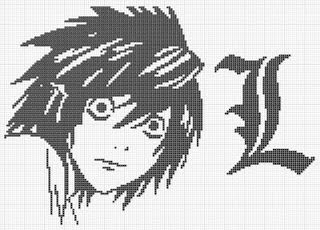 Snow White's Artistry: Death Note Cross-Stitch (Chart)