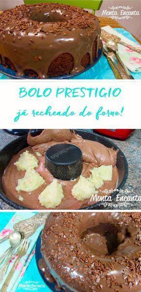 Como preparar bolo prestígio que já sai recheado do forno, com fotos do passo a passo.