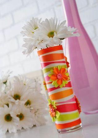 Decoupage Bud Vase