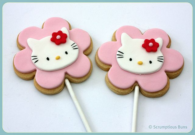 Hello Kitty Cookie Pops by Scrumptious Buns (Samantha), via Flickr