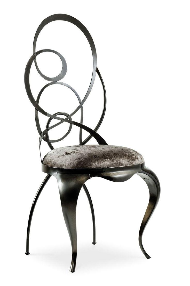 Chaise en fer Ghirigori by Cantori
