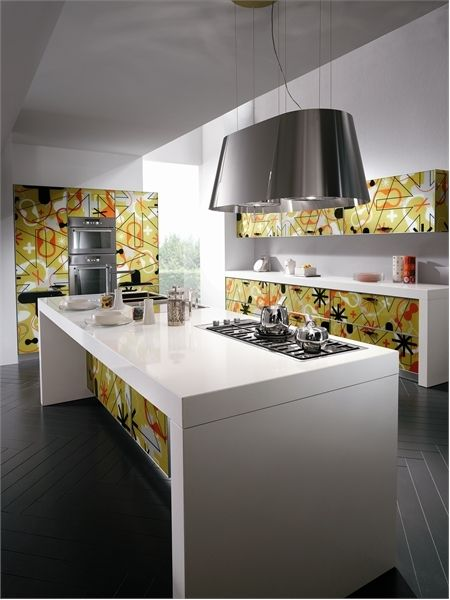 Good floor  Bright and Alive Modern Kitchen Designs – Crystal by Scavolini | DigsDigs