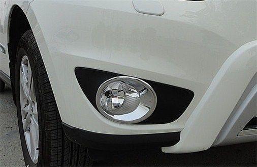 Chrome Fog Light lamp cover Trims For Hyundai santa fe 2010 2011 2012