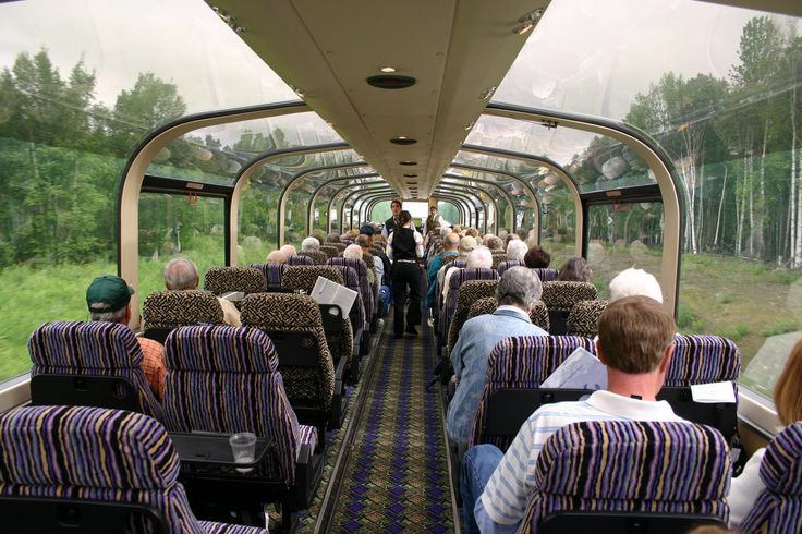 bubble train from Denali to Anchorage, Alaska