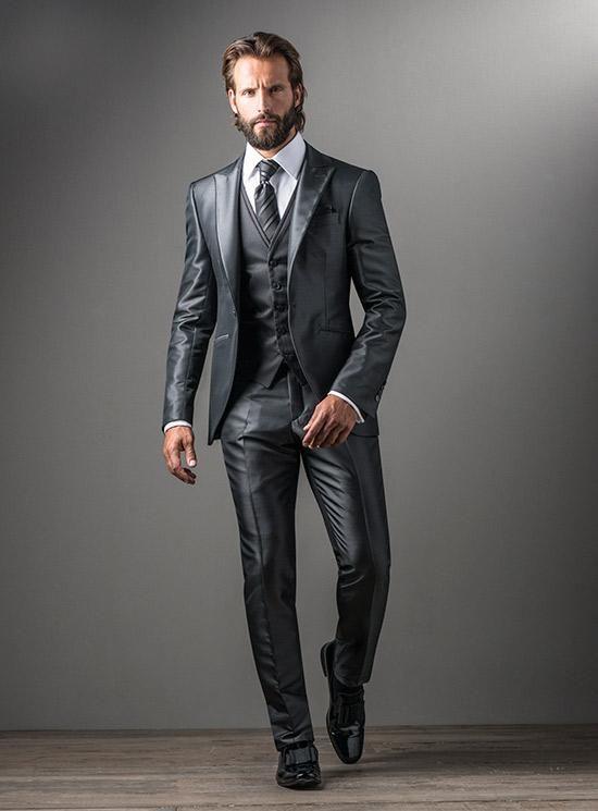 Fuentecapala light gray suit jacket 131326 | BodaMás - El Corte Ingles
