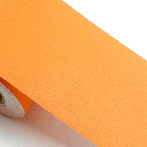 Peel & Stick Border Sticker Solid Orange Color Self