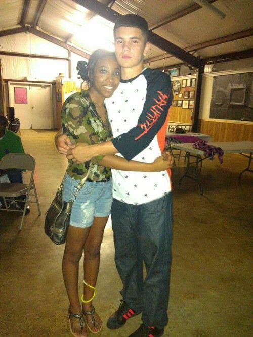 Boy interracial girl white Black