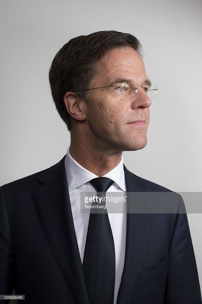 Mark Rutte, Dutch prime minister, poses for a photograph ahead of a Bloomberg Television interview in Amsterdam, Netherlands, on Monday, June 13, 2016. Rutte said that he wouldn't rule out governing with anti-Islam Freedom Party leader Geert Wilders, as he acknowledged a collective failure by traditional parties to adequately respond to voter concerns. Photographer: Jasper Juinen/Bloomberg via Getty Images